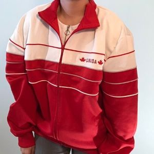 Vintage Foot Locker red and white Canada jacket
